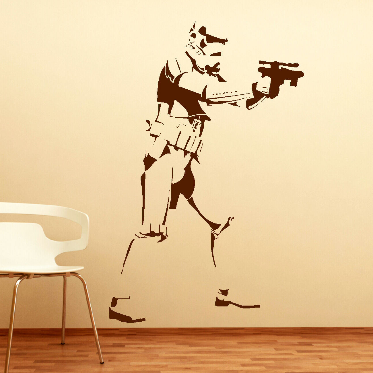 EXTRA LARGE STORM TROOPER STAR WARS LIFE SIZE WALL ART BIG MURAL ...
