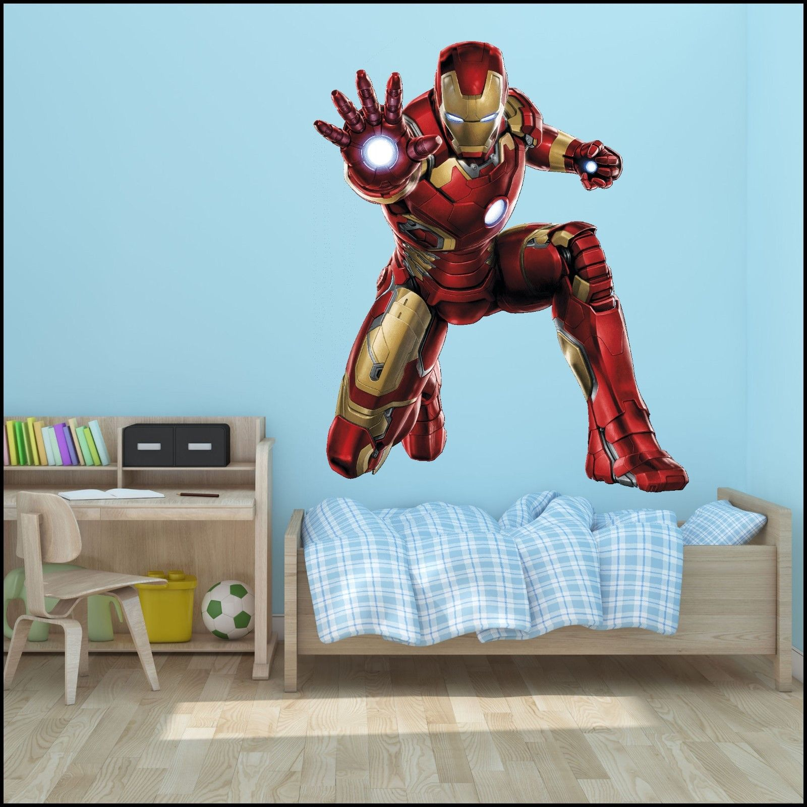 Large Iron Man Avengers Wall Sticker Mural Art 7 Sizes To Choose Xxl