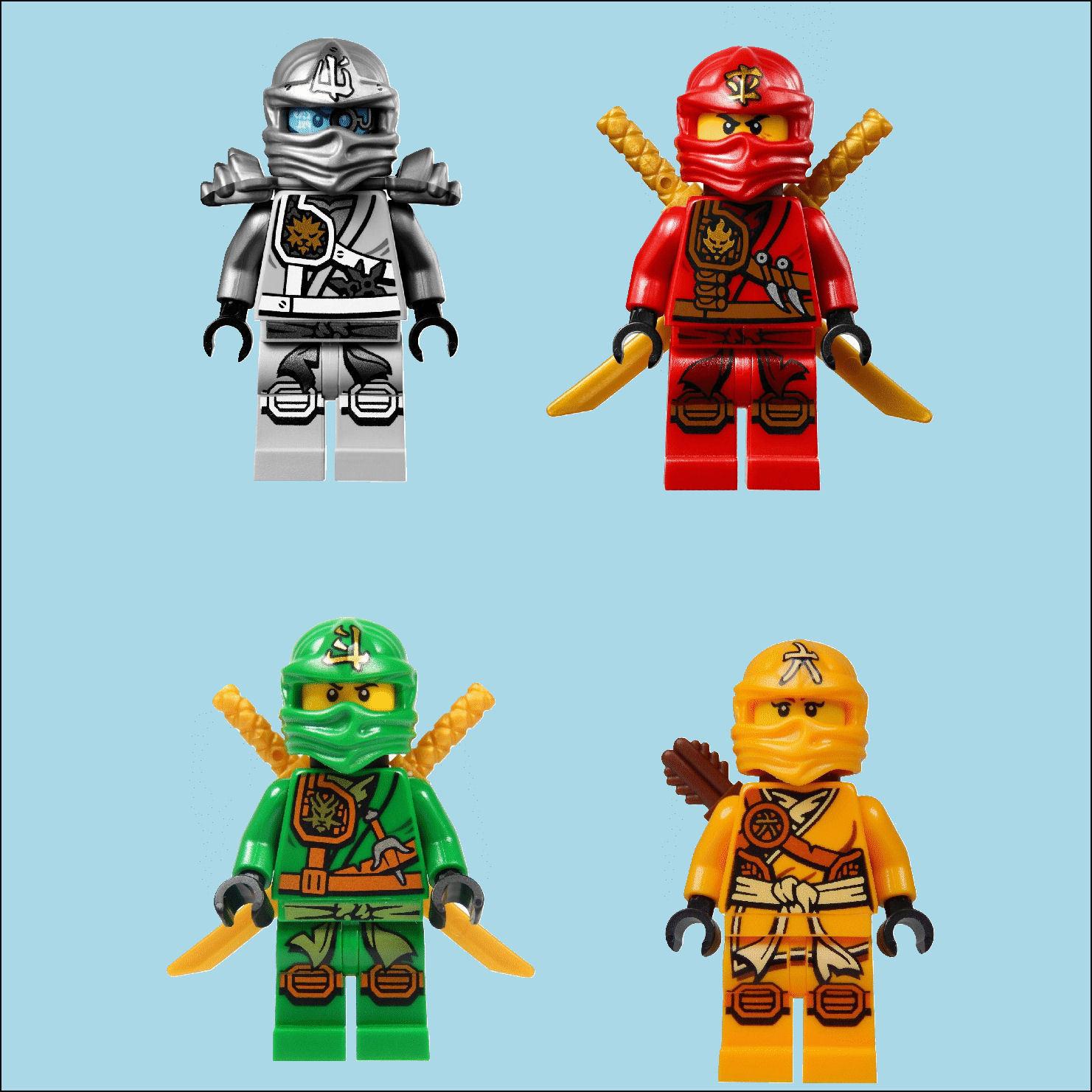 4 Ninjago Lego Movie Characters Colour Wall Sticker Vinyl ...