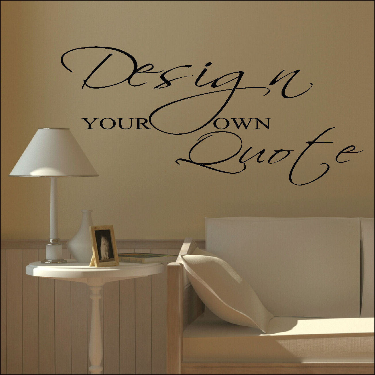 Design your own small custom wall sticker quote bespoke transfer vinyl decal